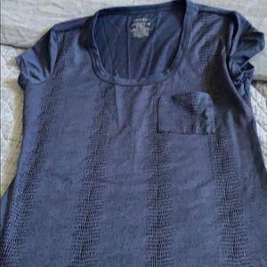 Calvin Klein faux snake skin pattern pocket tee